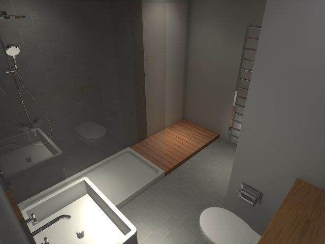 Basement Conversion - Main Bathroom Rendering