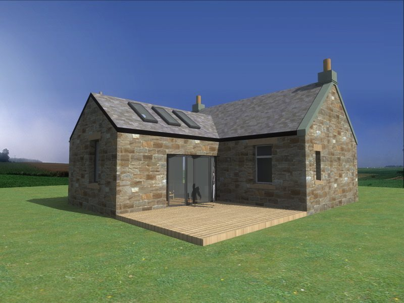 Fife architects the professional studio in the east neuk for Cottage extension designs