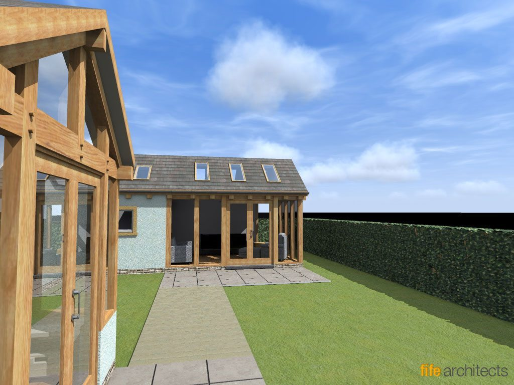 Oak Frame Extension - Fife Architects