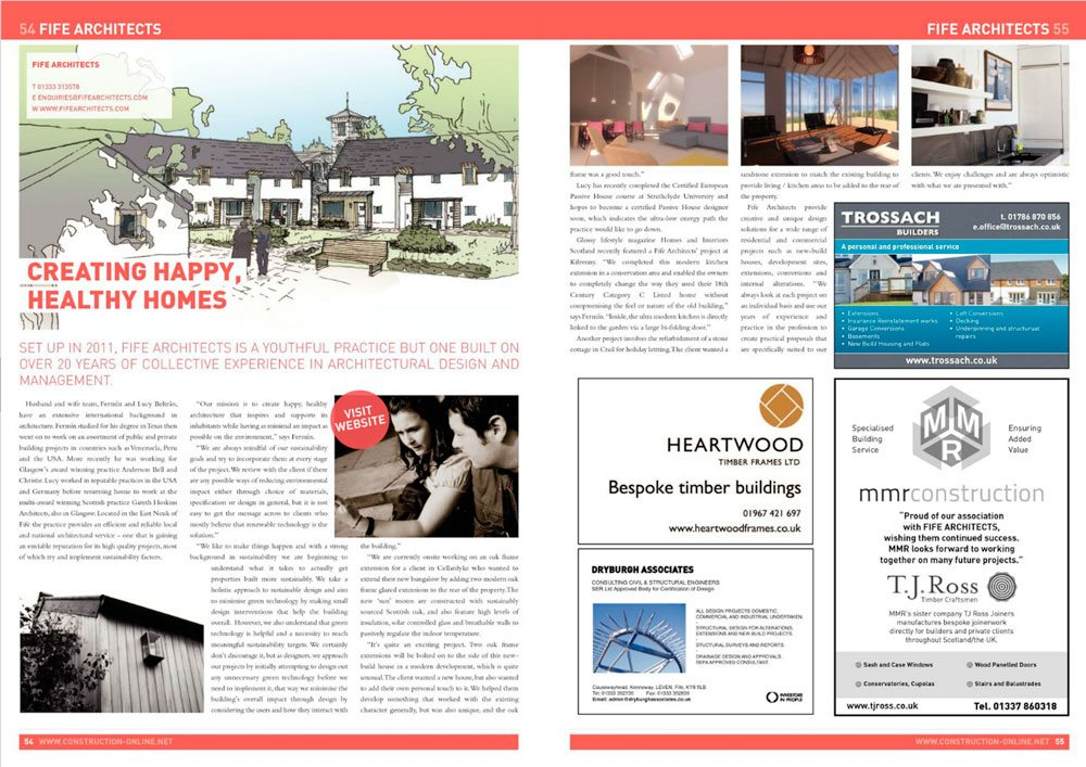 Fife Architects in the Press - Construction Magazine