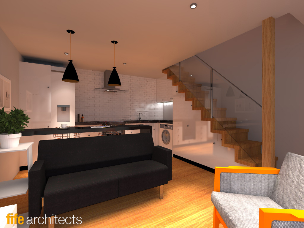 Stable conversion interior rendering