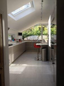 Kitchen refurbishment completed.