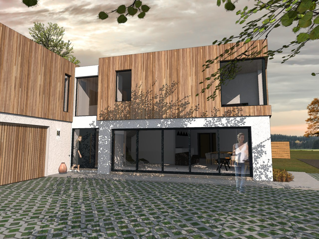 New Projects: Contemporary Family Home and New Oak Frame Extension