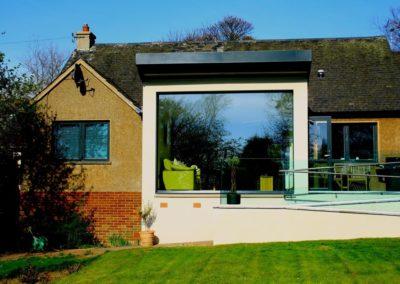 Rear view fifties bungalow renovation
