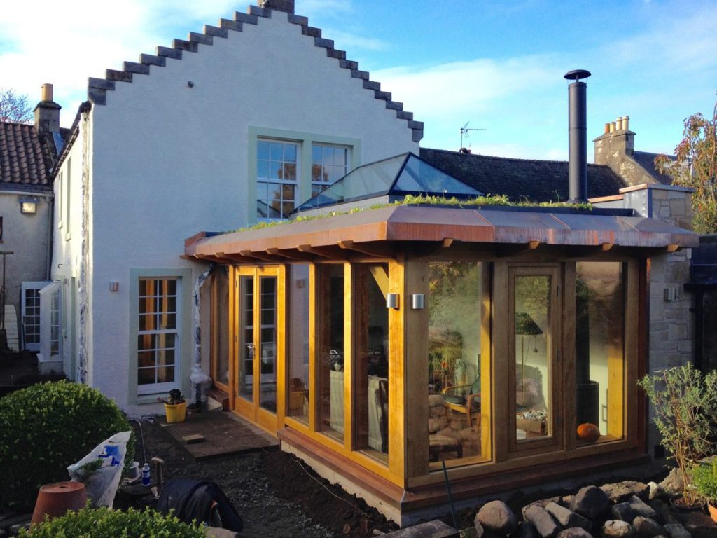 Oak Frame Extension and Renovation, Falkland