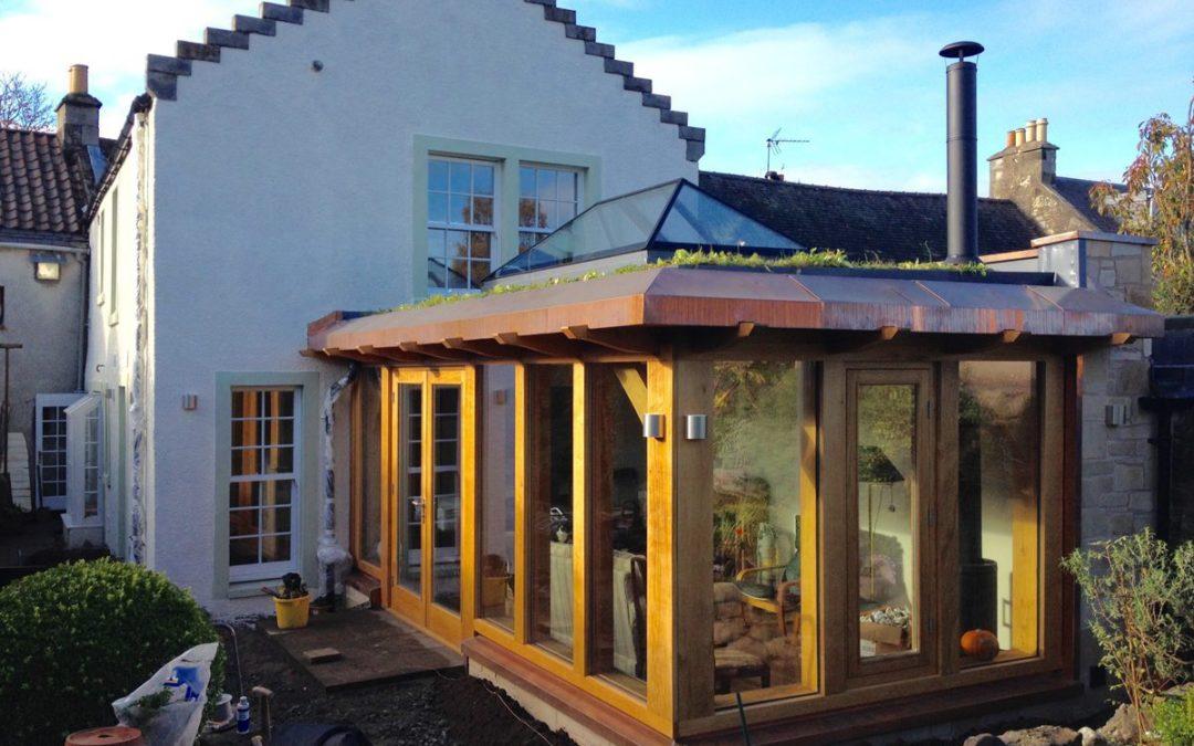 Oak Frame Extension and Renovation, Falkland